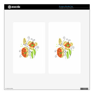 Wildflowers Large Kindle Fire Skins