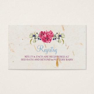 Wildflowers maravillosos que casan la tarjeta del tarjetas de visita