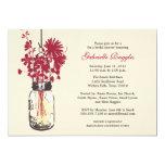 Wildflowers & Mason Jar Bridal Shower Card