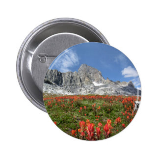 Wildflowers máximos de la bandera - desierto de pin redondo de 2 pulgadas
