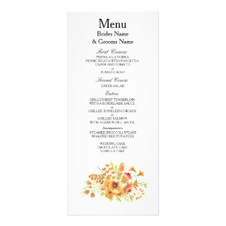 Wildflowers Modern Simple Elegant WeddingIdeas Rack Card
