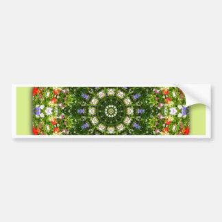 Wildflowers Nature, Flower-Mandala Bumper Sticker