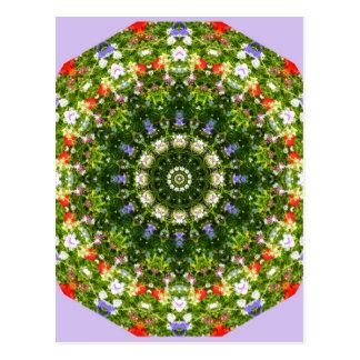 Wildflowers Nature, Flower-Mandala Postcard