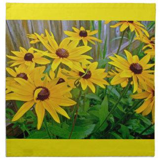 Wildflowers Negro-Observados de Susan Servilletas Imprimidas