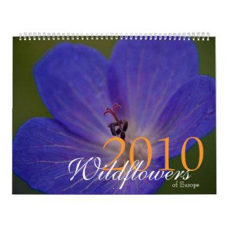 Wildflowers of Europe 2010 Calendar
