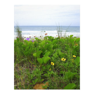 Wildflowers on the beach personalized letterhead