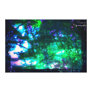 Wildflowers Oriental Goth Abstract Gallery Wrapped Canvas