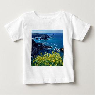 Wildflowers pacíficos Mendocino de la costa costa Playera De Bebé
