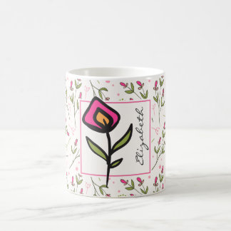 Wildflowers - Pink and Orange Petals Personalized Coffee Mug