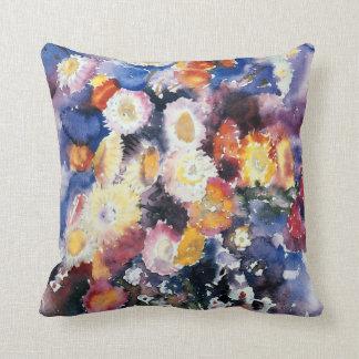 Wildflowers, pintura en colores pastel de la cojín