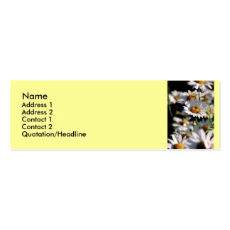 Wildflowers Profile Card Business Card Templates