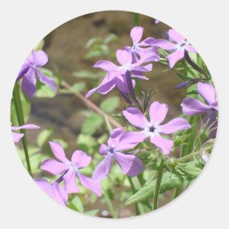 Wildflowers- Purple Classic Round Sticker