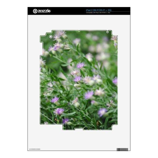Wildflowers púrpuras calcomanías para iPad 2