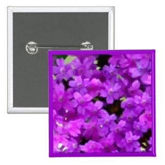 Wildflowers púrpuras expresivos florales pin