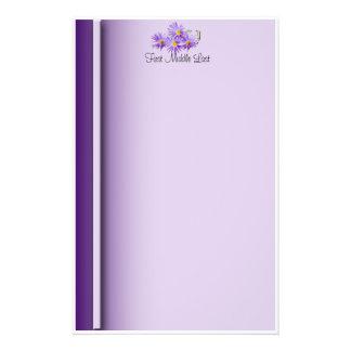 Wildflowers púrpuras papeleria
