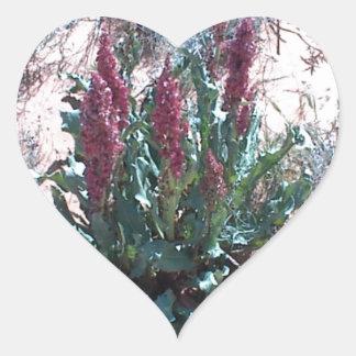 Wildflowers púrpuras colcomanias corazon