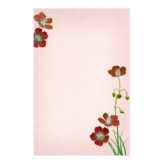 Wildflowers rojos en el boda rosado papelería de diseño