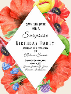 birthday save the date cards zazzle