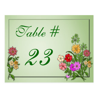 Wildflowers Table Number Card