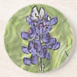 Wildflowers: Texas Bluebonnet Painting Sandstone Coaster