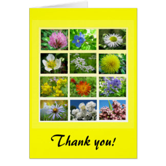 Wildflowers Thank You Greeting Cards