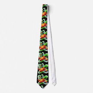 Wildflowers & Vines On Black Neck Tie