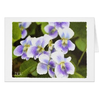 Wildflowers Violets/ Floral/Watercolor Look