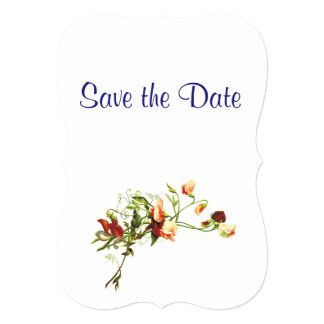 Wildflowers Wedding Day Theme Save the Date Card