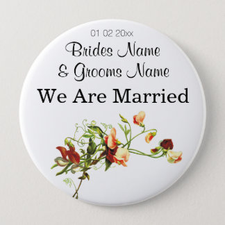 Wildflowers Wedding Souvenirs Keepsakes Giveaways Button