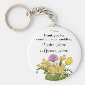 Wildflowers Wedding Souvenirs Keepsakes Giveaways Keychain