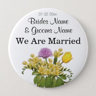 Wildflowers Wedding Souvenirs Keepsakes Giveaways Pinback Button