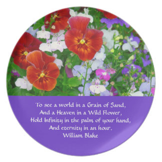 """""""Wildflowers with Wm.Blake Quote""""  PLATE"""