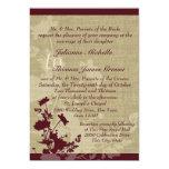 Wildflowers y boda de la arpillera invitación