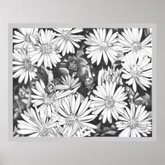 Wildflowers y poster de la bella arte de la