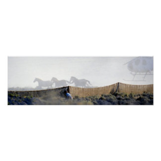 Wildhorses Harrassed in the Jute Chute Poster