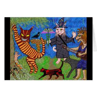 WildKatz in the Katnip Forest Greeting Card