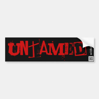 WildKidz Untamed Car Bumper Sticker