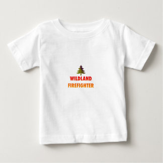 Wildland Firefighter with Tree Baby T-Shirt