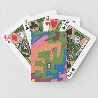 """WildLife"" Abstract Art Bicycle Playing Cards"