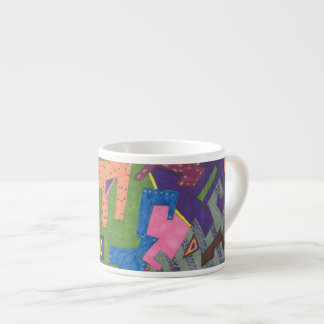 """WildLife"" Abstract Art Espresso Cup"