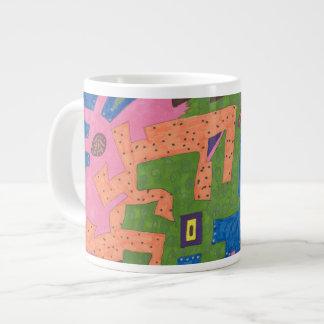 """WildLife"" Abstract Art Large Coffee Mug"