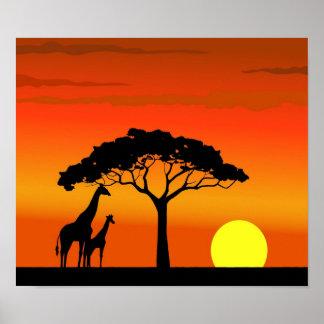Wildlife Afrika Poster