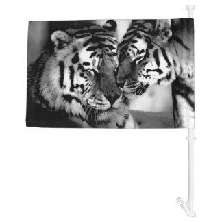 Wildlife, amazing tiger car flag