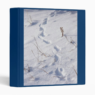 Wildlife Animal Footprints Tracks in Snow 3 Ring Binder