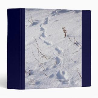 Wildlife Animal Footprints Tracks in Snow Binder