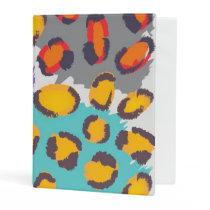 Wildlife animal pattern mini binder