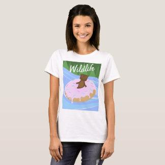 Wildlife Bear Doughnut Floatie T Shirt