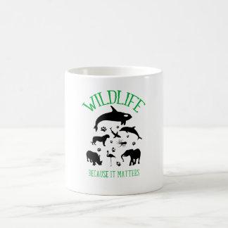 Wildlife Because it matters Animals Silhouette Mug