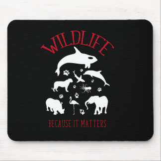 Wildlife Because it matters Silhouette Mouse Pad