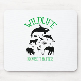 Wildlife Because it matters Silhouettes Mouse Pad